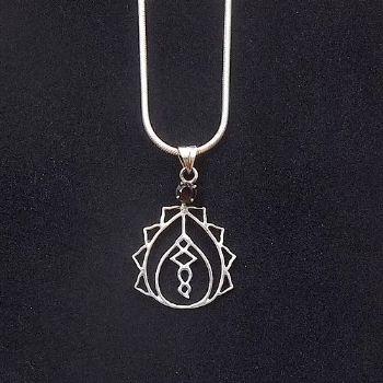 Lotus Serpent Pendant with Amethyst